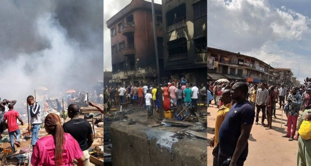 Fire destroys houses, lives, shops in Ochanja market Onitsha Anambra State