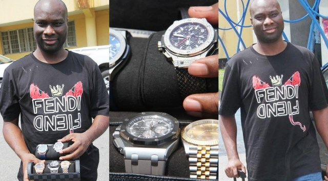 EFCC releases statement on Mompha's arrest, says watches worth N20m recovered from him