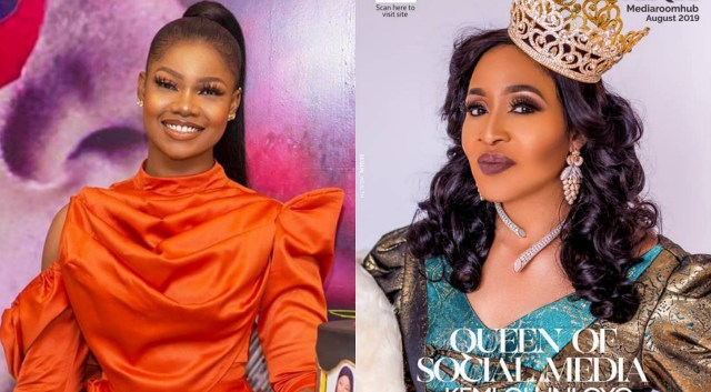 Kemi Olunloyo tells Tacha that her Pitchfork logo🔱 is devil symbol, it brings badluck