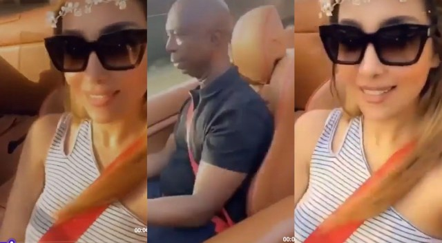 A video shows Ned Nwoko cruising around with his Moroccan wife