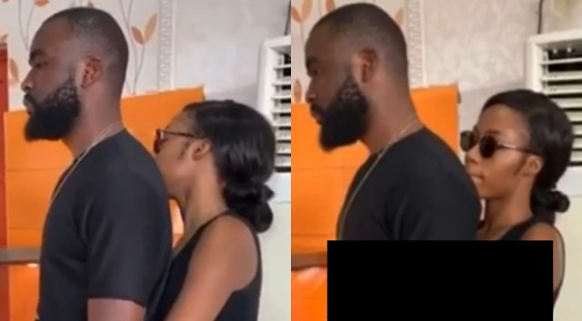 Inseparable BBNaija's Gedoni and Khafi spotted together at Lekki fast-food joint