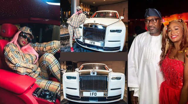 Dj Cuppy buys her dad Femi Otedola Rolls Royce as Christmas gift