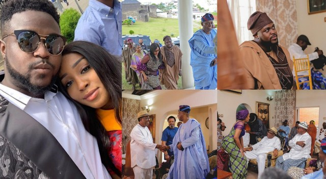 Official marriage rite begins for Davido's older brother, Adewale and his fiancee, Kani