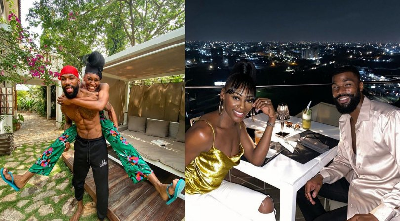 BBNaija's Mike and his wife, Perri Shakes 'cruise' in Ghana