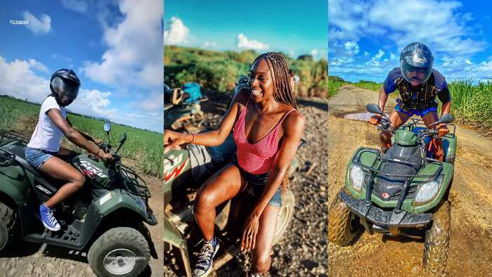 Reality star, Mike and wife, Perri seem to never return from honeymoon as Quad bike cruise blew their mind