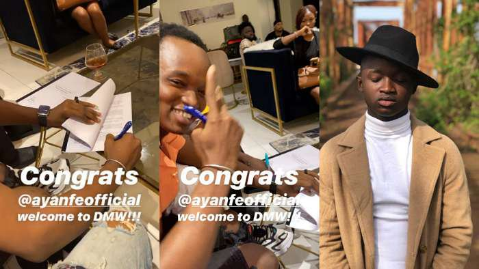Davido signs new artiste, Ayanfe into Davido Music Worldwide