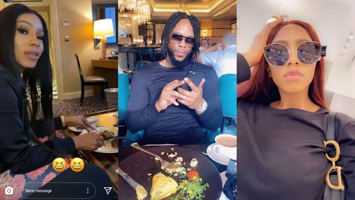 Singer, Willie XO hangs out with BBNaija star, Mercy Eke in London (video)