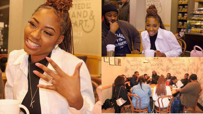 """BBNaija's Khafi shows off her engagement ring during her first ever """"Coffee With Khafi"""" event in London"""