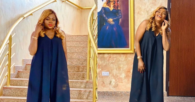 """""""God's plan is bigger than your mistakes"""" – Funke Akindele says as she shares new adorable photos"""