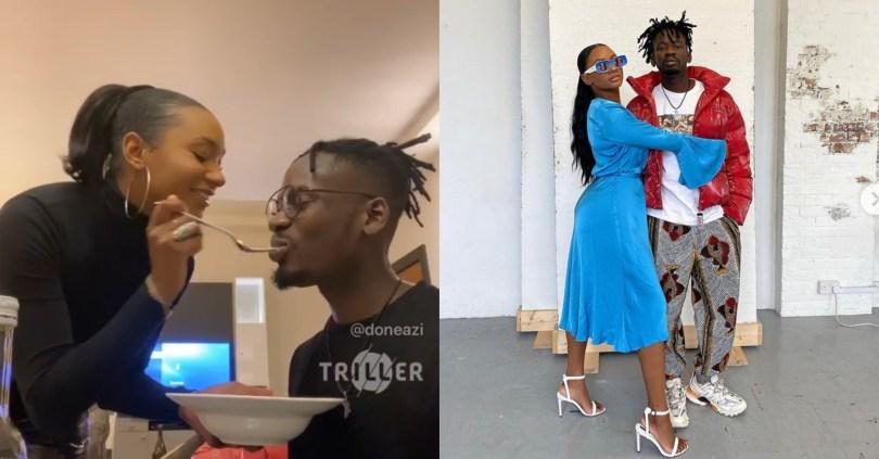 Mr. Eazi surprises his girlfriend, Temi Otedola, 2 weeks after her birthday