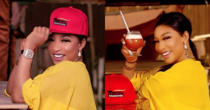 Tonto Dikeh thanks God for making her lack nothing during lockdown despite giving out to the poor