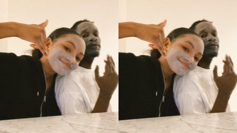 How Mr Eazi teaches girlfriend, Temi his skin care routine
