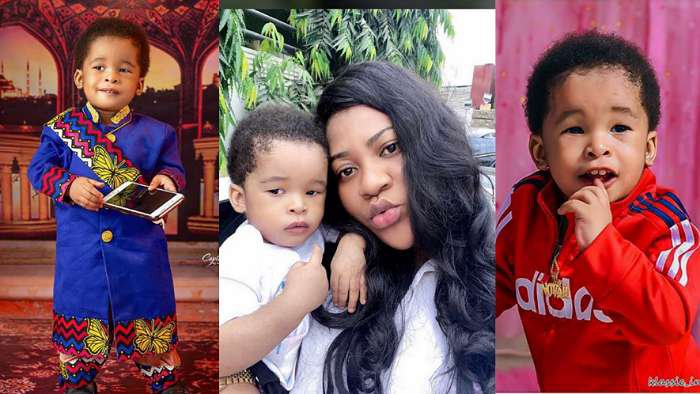 Actress, Nkechi Blessing lavishes her son, Success with early birthday blessings as he turns 1