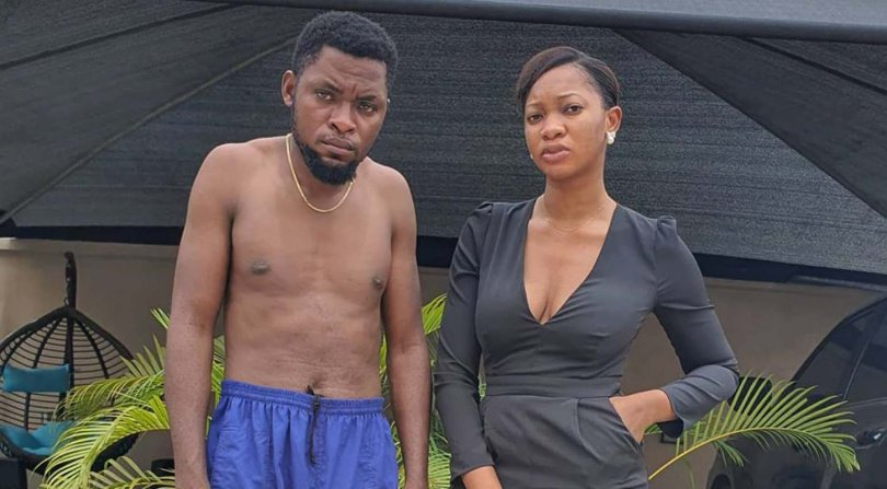 Mark Angel's 'village wife' threatens to break up if he doesn't tell people he's her houseboy
