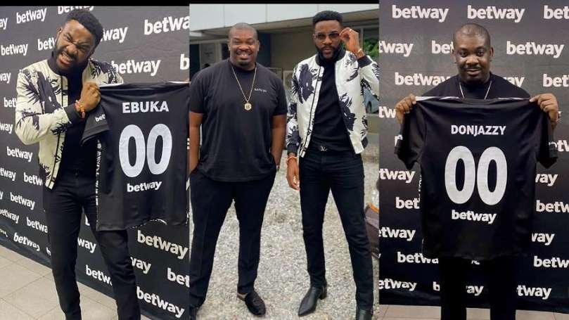 BBNaija host Ebuka and music executive Don Jazzy sign multimillion naira deal with Betway NG