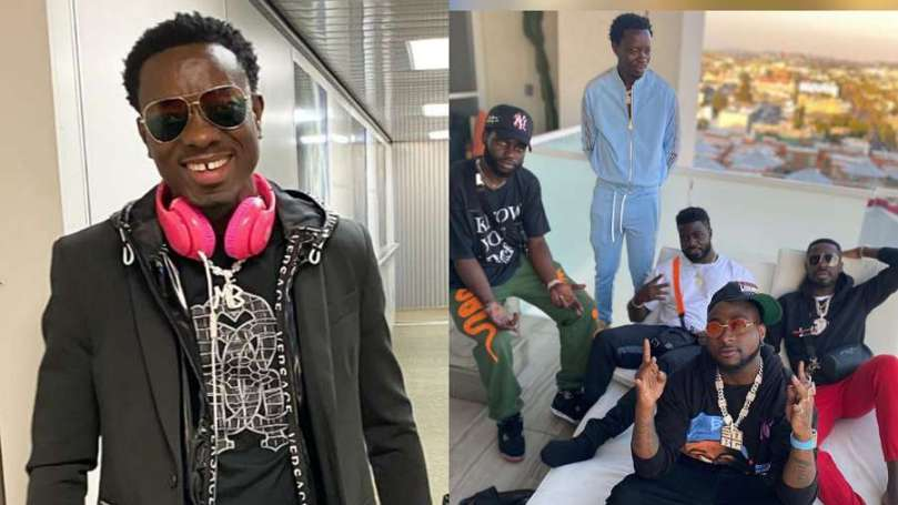 Look what Davido tells American comedian Michael Blackson about being a Nigerian