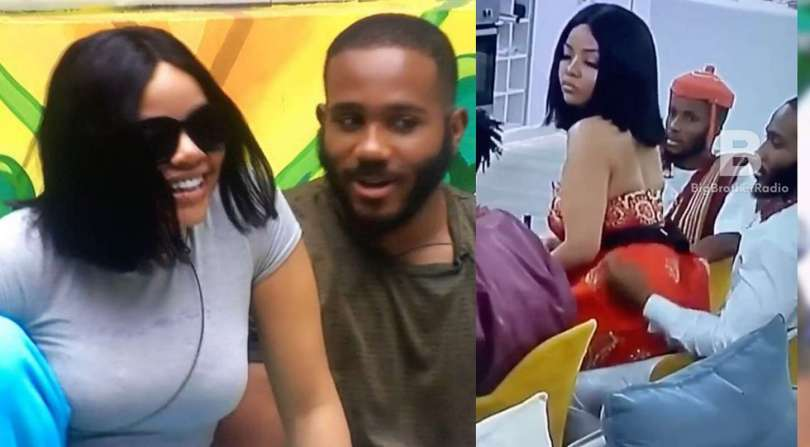 BBNaija: Nengi spotted playfully seducing Kiddwaya (video)