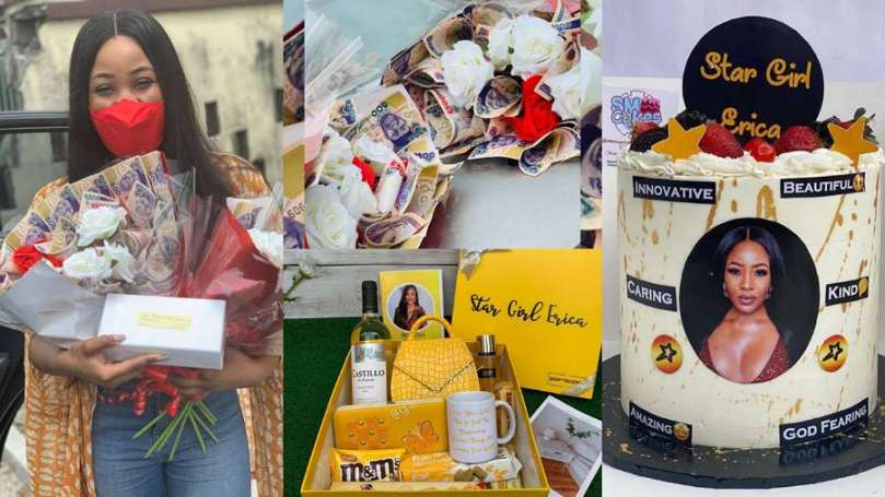 BBNaija: Erica's fans welcome her in Abuja with several gifts