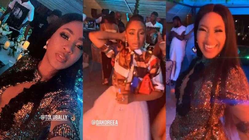 Moment BBNaija's Erica showed up at actress, Dakore's birthday party (video)