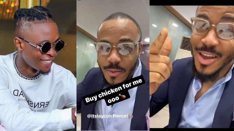 'Buy me chicken oo' – BBNaija winner Laycon tells Ozo while at KFC vibing to his song 'Fierce'