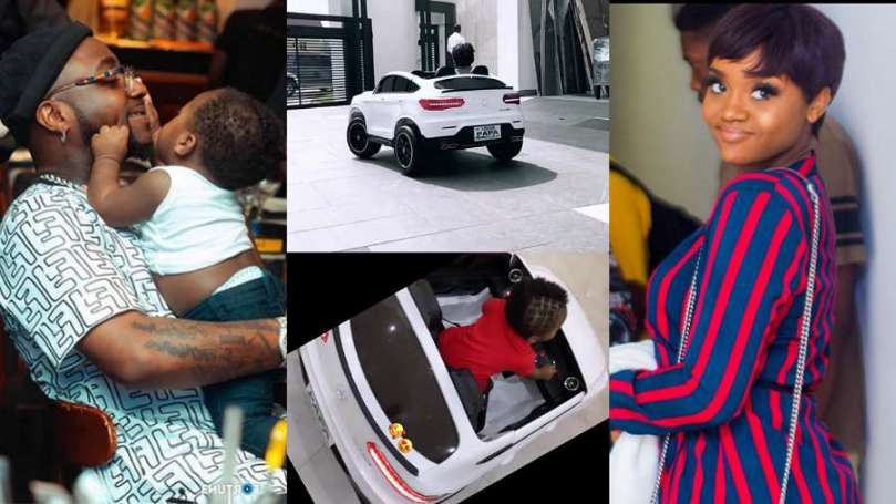 Davido buys his son, David Ifeanyi Jr a luxurious toy car as he turns one