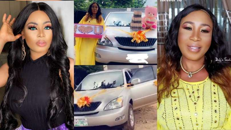 BBNaija star Nina blesses her mom with a car on her 60th birthday (video)