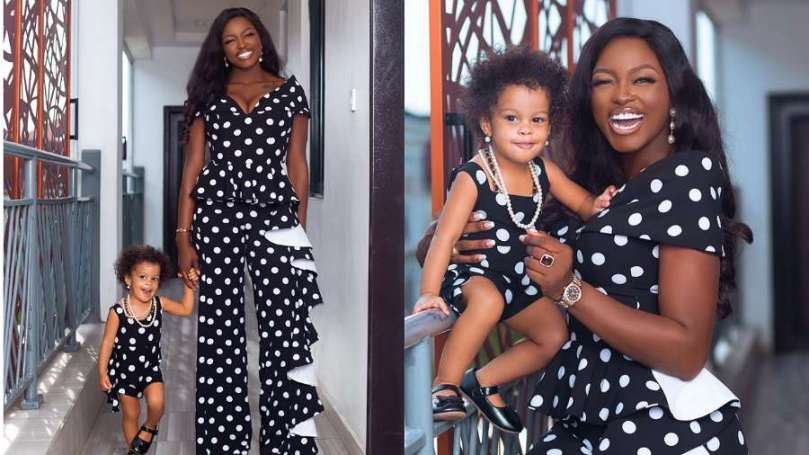 BBNaija's Ka3na glows in new photos with her daughter, Lila