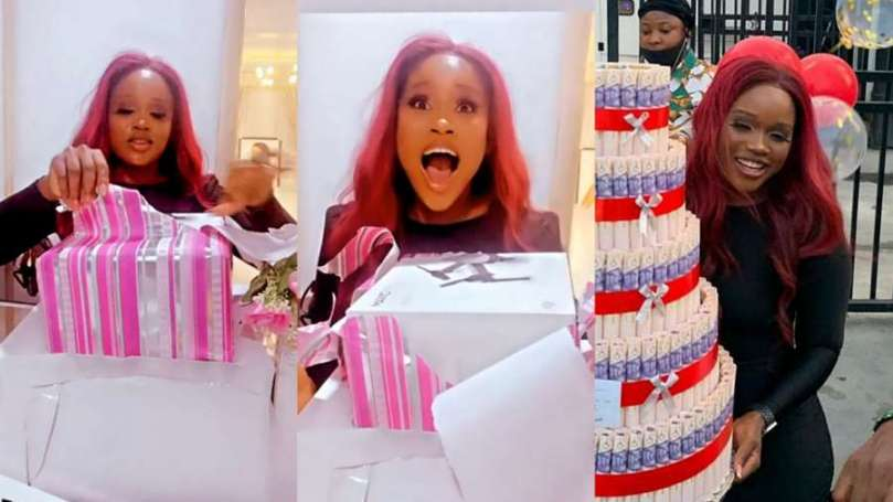 BBNaija's Cee C finally owns a drone after fans' biggest birthday surprise (video)