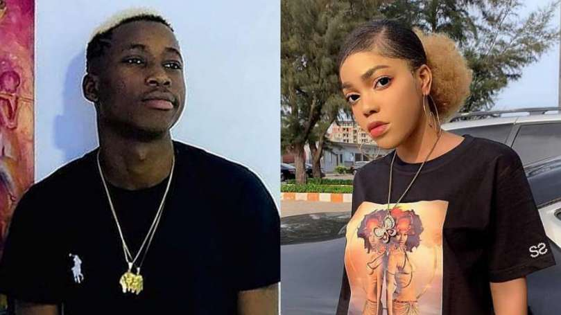 Lil Frosh's girlfriend reacts after he publicly denied beating her