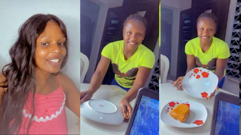 Few days later, BBNaija's Kaisha shames haters as she orders her maid again to serve her food (video)