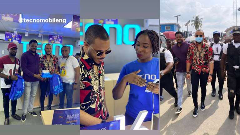 Ozo hangs out with fans at Computer Village, Lagos (video)