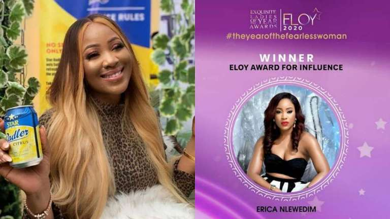 BBNaija star Erica takes home 'Eloy Award For Influence' at Eloy 2020