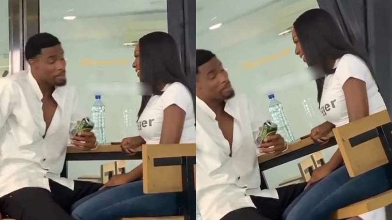 Fans react as BBNaija's Neo and Tolanibaj were spotted together in a restaurant (video)