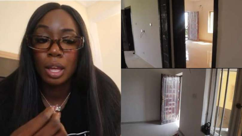 Excited BBNaija star Tolanibaj shares her new apartment worth million