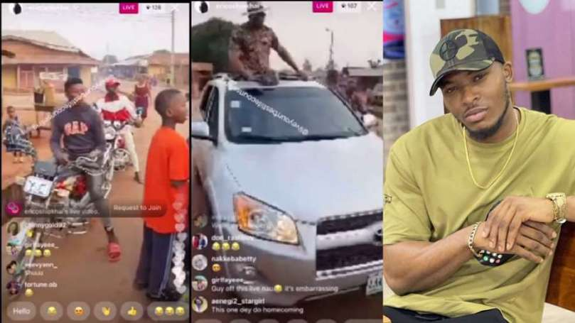 Reactions trail as crowd of two people welcome BBNaija's Eric in Edo State