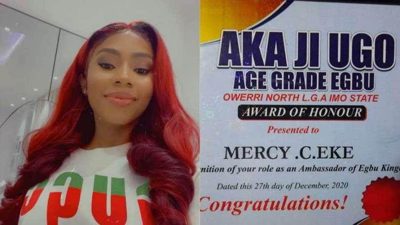 BBNaija's Mercy Eke honoured as Ambassador of Egbu Kingdom in Imo State