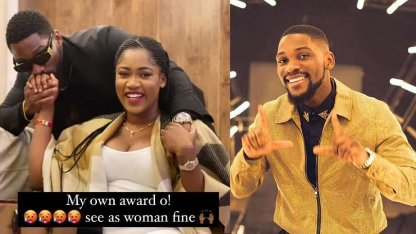 BBNaija's Tobi leaves many hearts broken as he shows off his fiancee first time