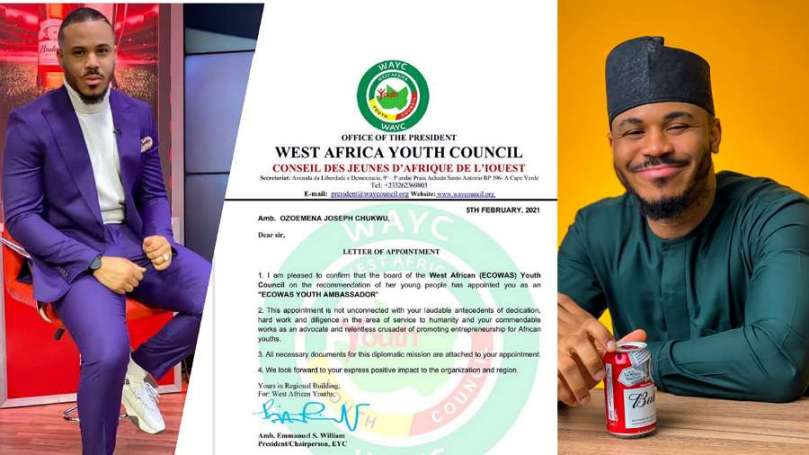 BBNaija's Ozo becomes ECOWAS Youth Ambassador