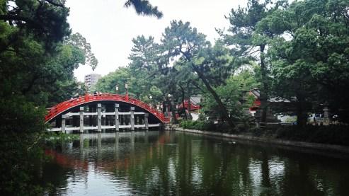 Sorihashi Bridge at Sumiyoshi Taisha