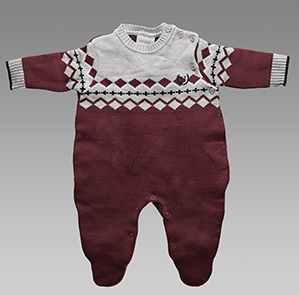 Macacão Jacquard Noruega Baby – Cód. 12797 – R$52,14