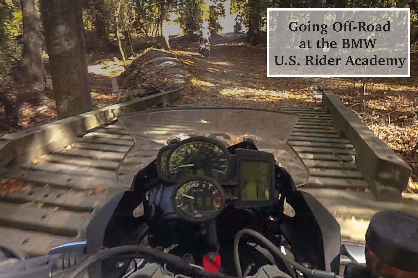 Going Off-Road at the BMW U.S. Rider Academy