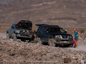 Backcountry dirt roads like Titus Canyon are well worth the effort to get there but flat tires are common. Be prepared and be sure to help others who are stranded.