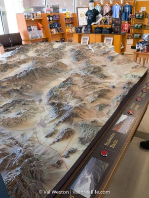 This map in the visitor center will help orient you to the scale and geography of the park.