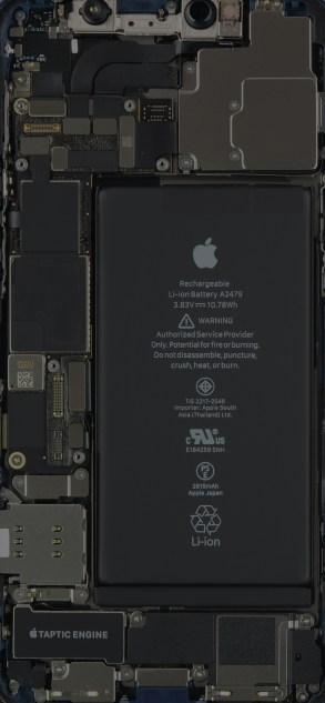 iPhone 12 internals wallpaper, slightly darker mode