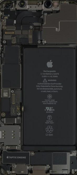 iPhone 12 Pro internals wallpaper, slightly darker mode