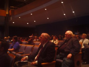 Audience listening to the Oscar-winning director John Avildsen in the GPAC.  Cheval John/Vallano Media