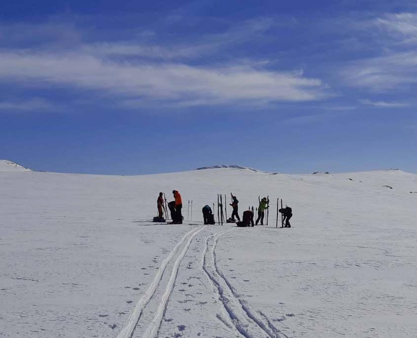 talvinen hiihtovaellus muotkalla 365-klubi