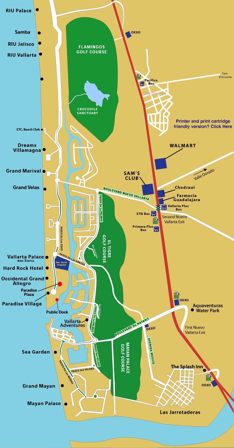 Puerto Vallarta Hotel Map : puerto, vallarta, hotel, Nuevo, Vallarta