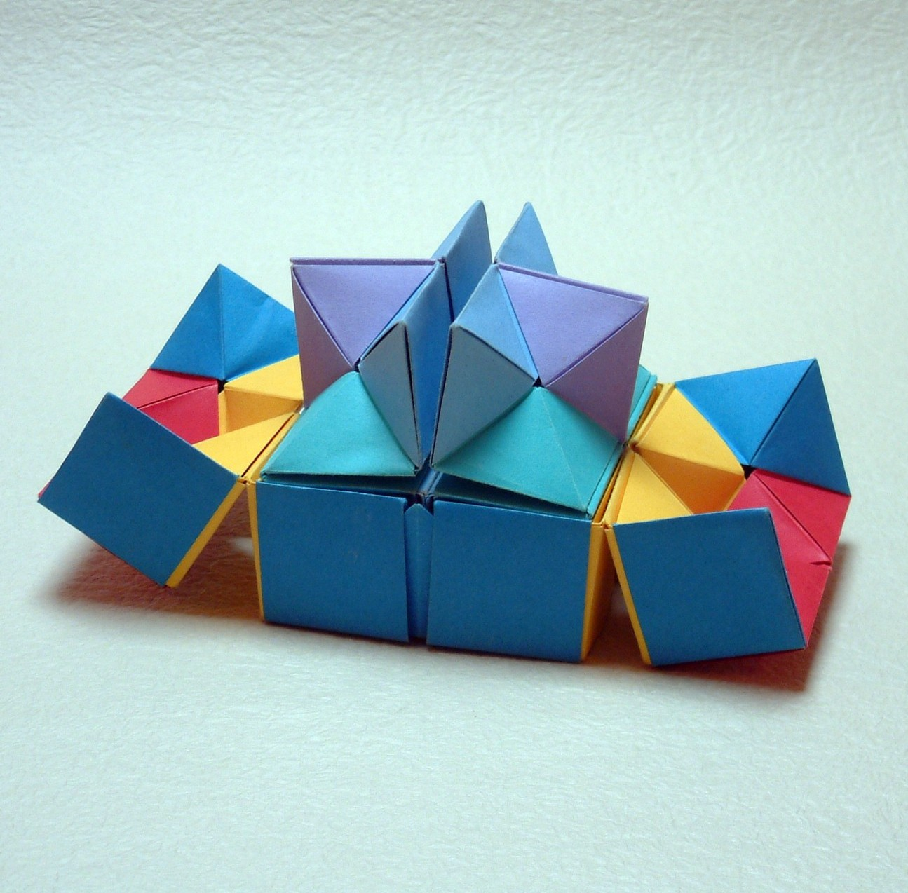 origami diagram com 7 blade david brill
