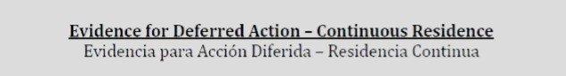 DACA evidencia para residencia continua - guía informativa bilingue
